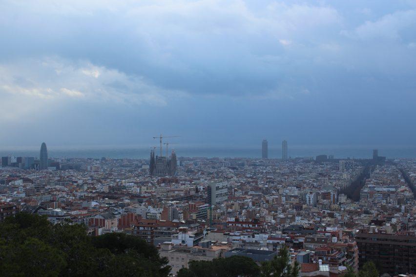 Vista panoramica di Barcellona da Park Guell
