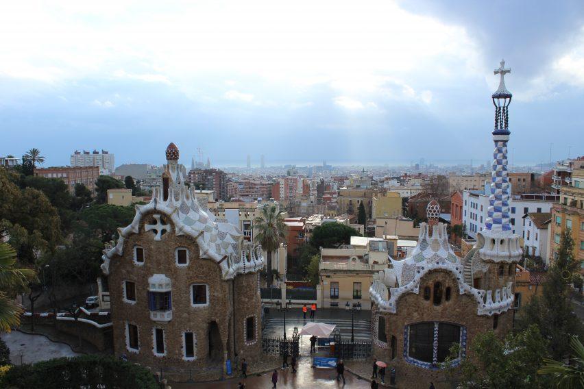 Barcellona dalla terrazza di Park Guell