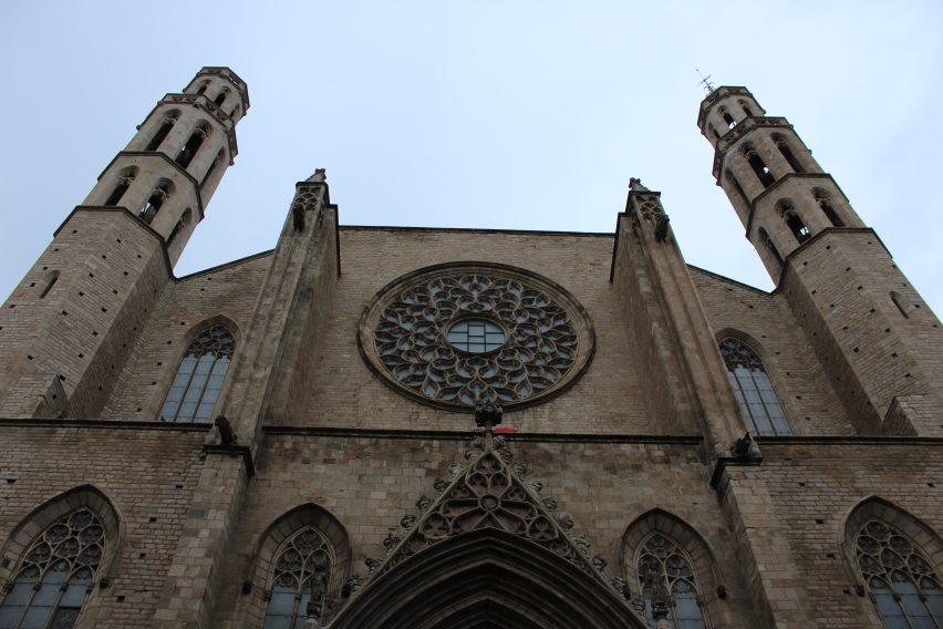 Il rosone della Chiesa di Santa Maria del Mar a Barcellona