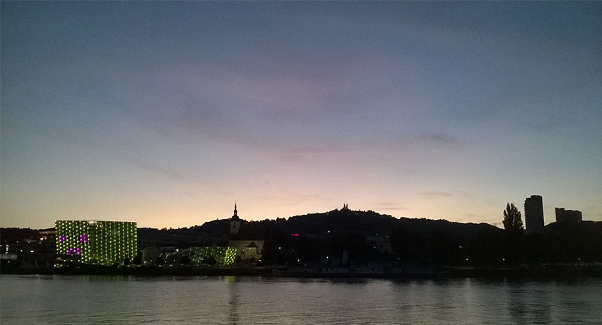 Ars Electronica Center Linz by night