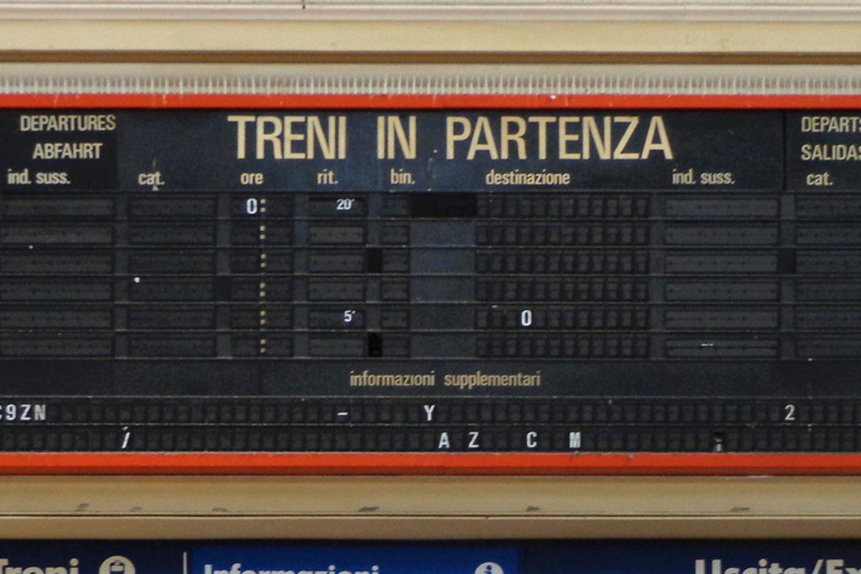 Tabellone Stazione FS