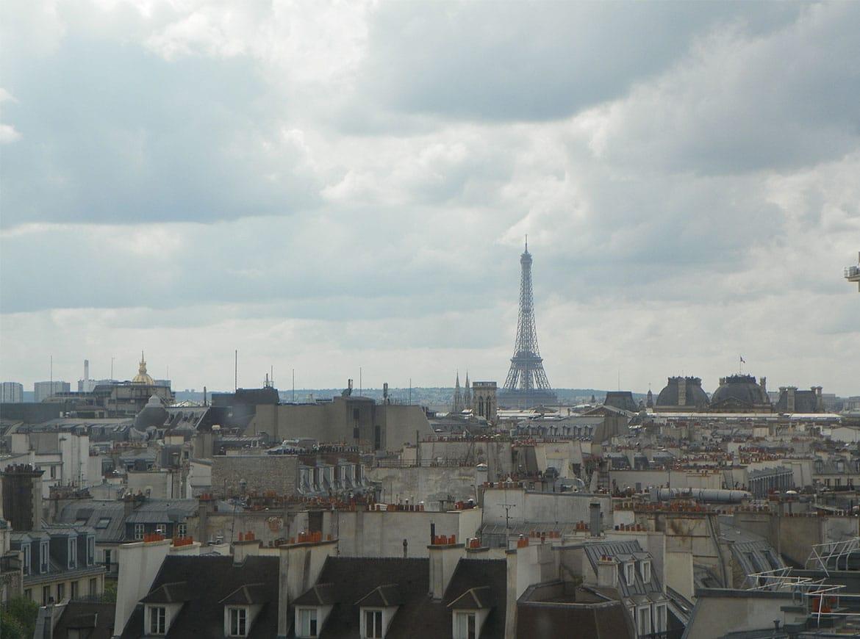 Tour Eiffel dal Centre Pompidou