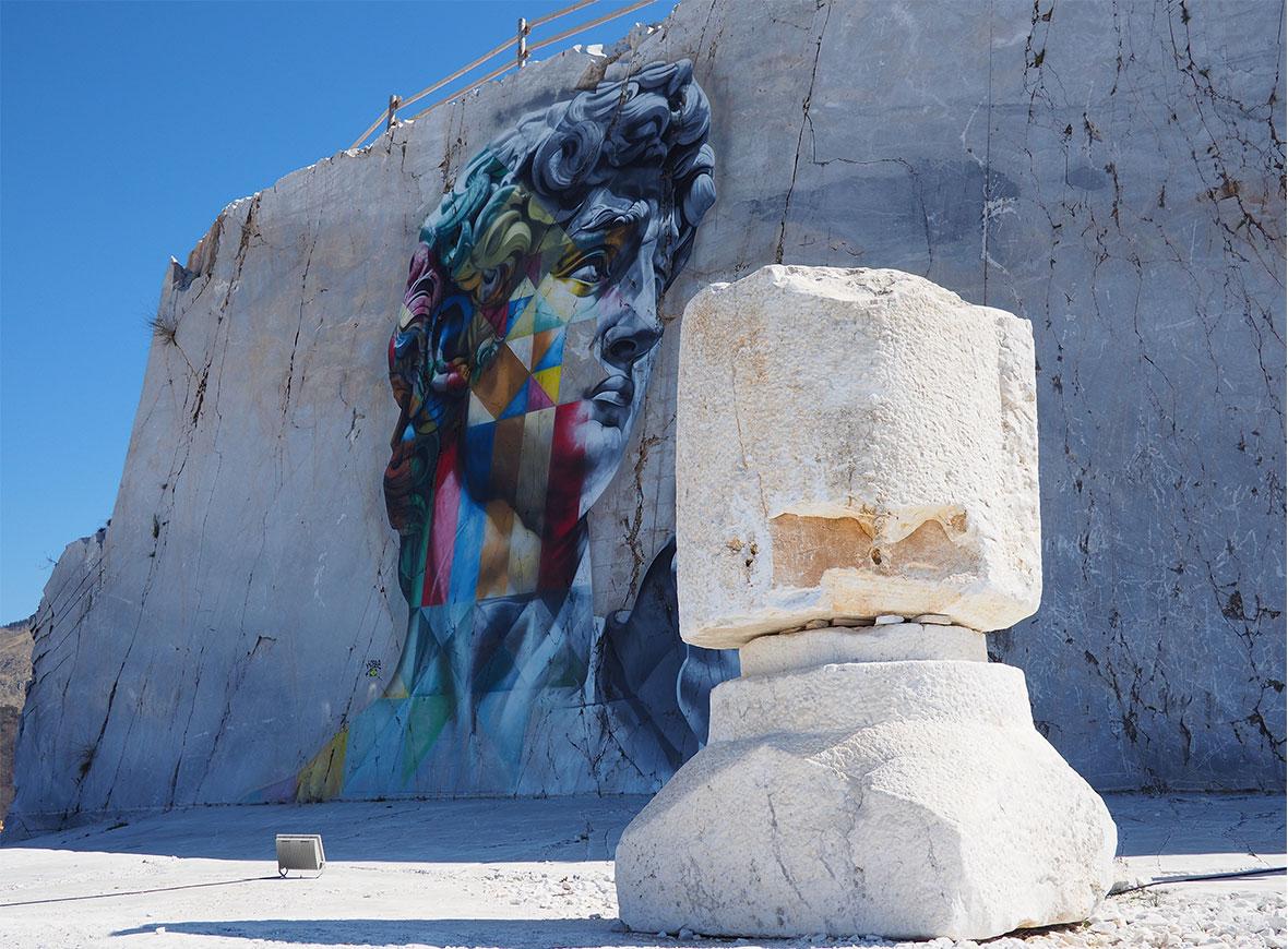 Il murale di Kobra fra le cave Gualtiero Corsi