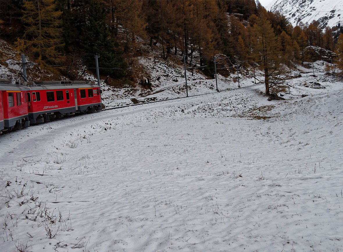 Neve Trenino Rosso del Bernina