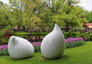 Installazioni di bulbi a Keukenhof Park