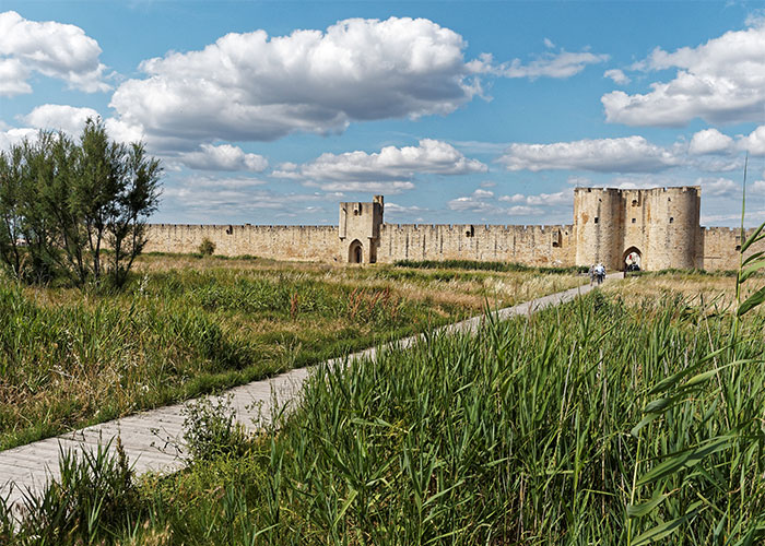 Villaggio di Aigues-Mortes in Camargue