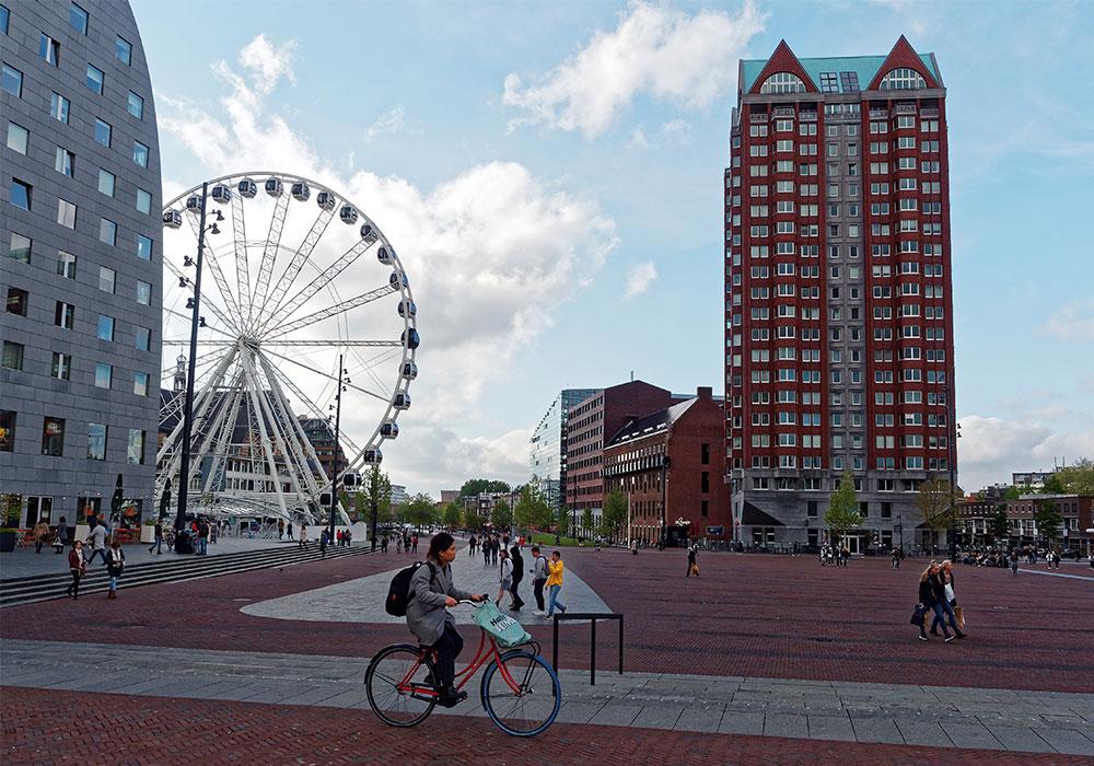 Edifici appuntiti nel cuore di Rotterdam