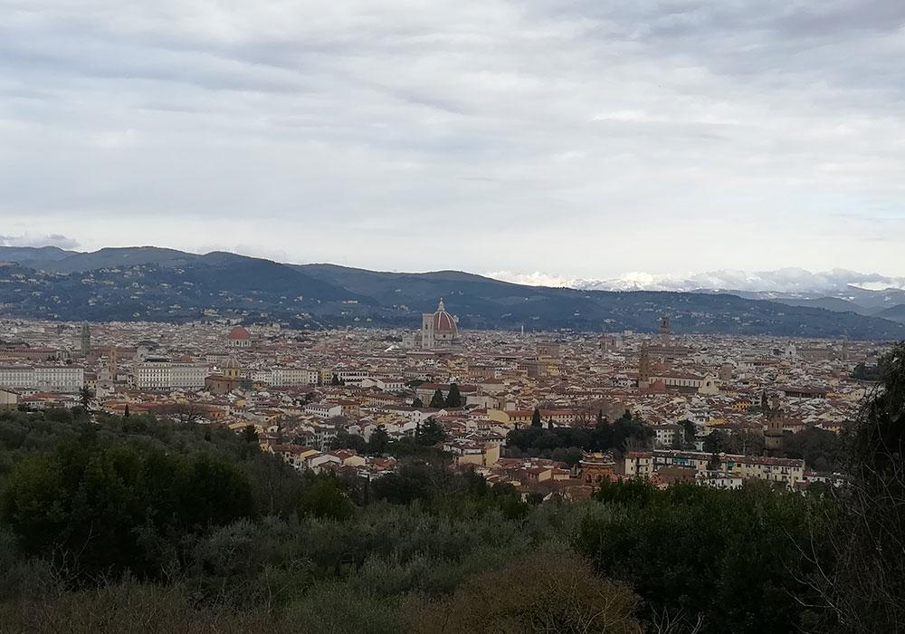 Vista su Firenze e le sue meraviglie