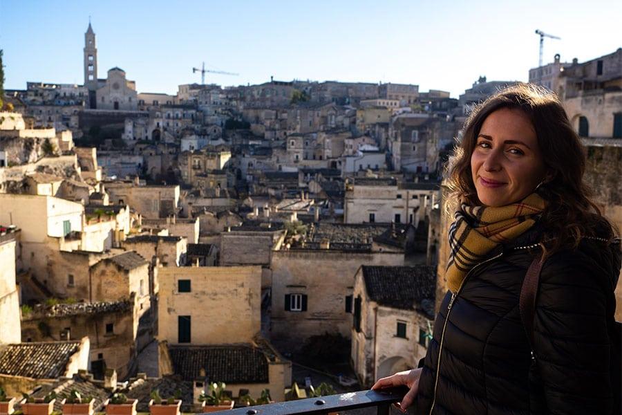 Matera, i Sassi e la Civita dalla terrazza panoramica di Piazza Vittorio Veneto